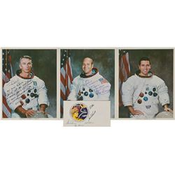 Apollo 17 Set of (4) Signed Items