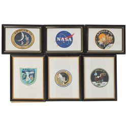 Apollo Set of (6) Framed Beta Cloth Patches