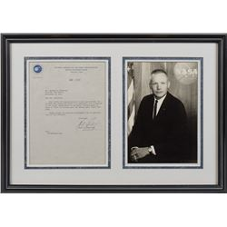 Neil Armstrong Signed Letter and Photograph