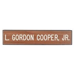MA-9: Gordon Cooper's Desk Nameplate