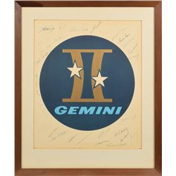 Gemini Lithograph Signed By (30) Group 1, 2, and 3 Astronauts