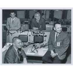 Mission Control 'First Four' Signed Photograph