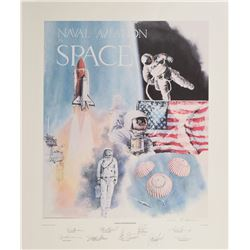 Naval Aviation in Space Signed Lithograph
