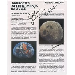 Apollo 8 Signed Mission Summary