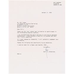Neil Armstrong Typed Letter Signed