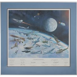 Astronauts 'Gathering of Eagles' Signed Litho