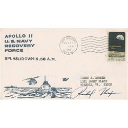 Richard Nixon Signed Apollo 11 Recovery Cover