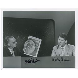Wally Schirra and Walter Cronkite Apollo 11 Signed Photograph