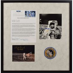 Alan Bean and Charles Conrad Signed Typescript and Photo Display