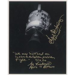 Gene Kranz and Sy Liebergot Signed Photograph