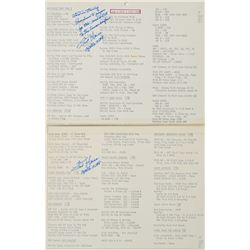 Fred Haise's Training-Used and Signed Apollo 13 Cue Card