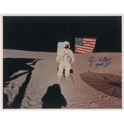 Edgar Mitchell Oversized Signed Photograph