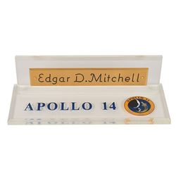 Edgar Mitchell's Desk Name Plaque