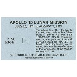 Apollo 15 Pencil Mark