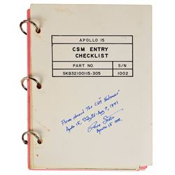 Dave Scott's Apollo 15 CMS Lunar Orbit-Flown Entry Checklist