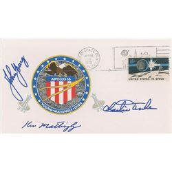 John Young's Apollo 16 Crew-Signed Insurance Cover