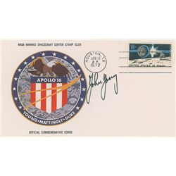 John Young's Signed Apollo 16 Insurance Cover
