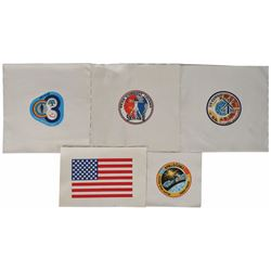 Skylab and Apollo-Soyuz Set of (5) Beta Cloth Patches