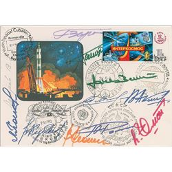 Soyuz Multi-Crew Signed Cover