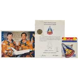STS–1 Signed Photograph and MFA Medal Presentation