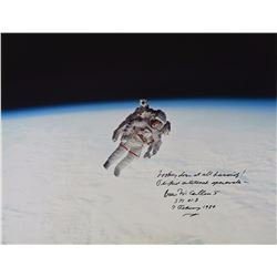 STS–41-B: Bruce McCandless Oversized Signed Photograph