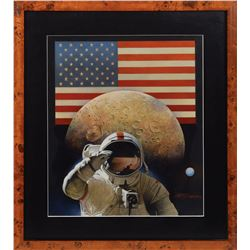 History of the American Flag Painting by Gregory Rudd