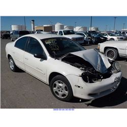 2001 - DODGE NEON // SALVAGE TITLE