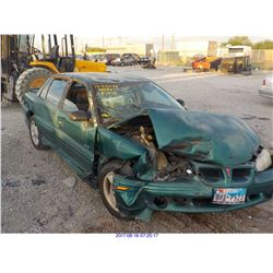1998 - PONTIAC GRAND AM // SALVAGE TITLE