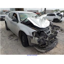 2008 - DODGE AVENGER // SALVAGE TITLE