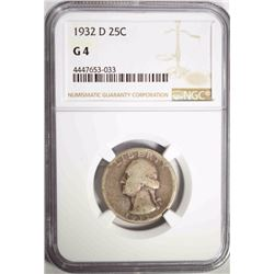 1932-D WASHINGTON QUARTER, NGC G-4