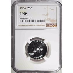 1956 WASHINGTON QUARTER, NGC PF-69