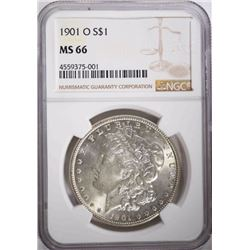 1901-O MORGAN DOLLAR, NGC MS-66
