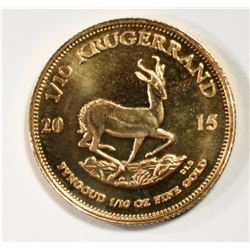 2015 1/10th OUNCE FINE GOLD KRUGERRAND