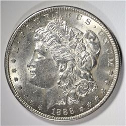 1888-S MORGAN SILVER DOLLAR CH BU  SEMI-KEY