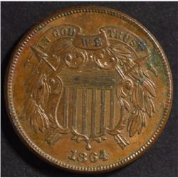 1864 2 CENTS BU COIN WITH SOME CORROSION