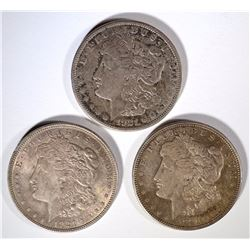 1921-P-D & S CIRC MORGAN DOLLARS