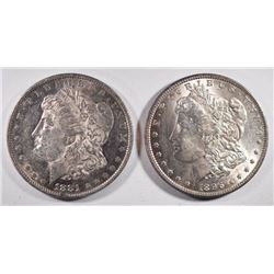 1881-O & 1896 MORGAN DOLLARS CHOICE BU