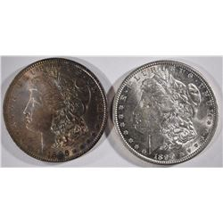 1886 & 1890 MORGAN DOLLARS CHOICE BU+
