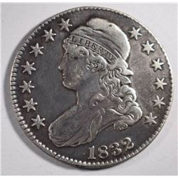 1832 CAPPED BUST HALF DOLLAR, VF/XF