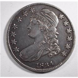 1834 CAPPED BUST HALF DOLLAR, VF+