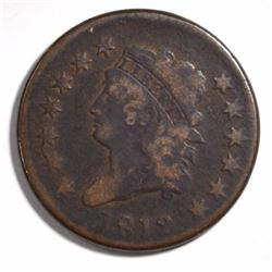 1812 LARGE CENT, FINE -SOME POROSITY