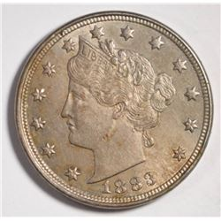 "1883 WITH ""CENTS"" LIBERTY NICKEL, CH BU"