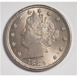 "1889 LIBERTY ""V"" NICKEL, CHOICE BU"