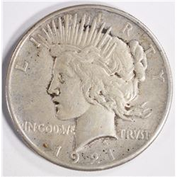 1921 PEACE SILVER DOLLAR VF/XF
