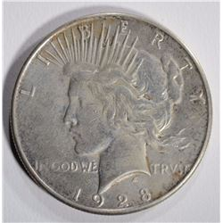 1928-S PEACE DOLLAR XF/AU