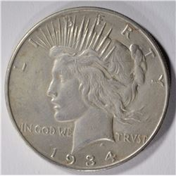1934-D PEACE DOLLAR XF/AU