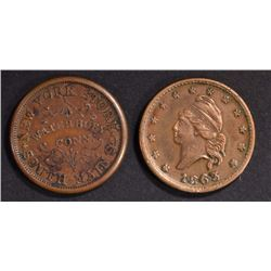 (2) AUTHENTIC CIVIL WAR TOKENS