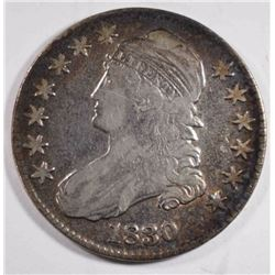1830 CAPPED BUST HALF DOLLAR, FINE