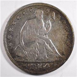 1854 WITH ARROWS SEATED HALF DOLLAR, FINE