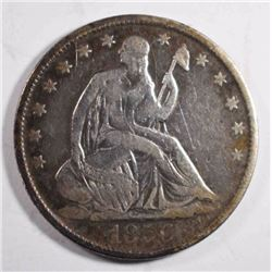 1856-O SEATED HALF DOLLAR, FINE